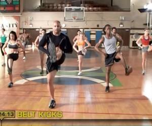 Insanity Cardio Power & Resistance-belt kicks