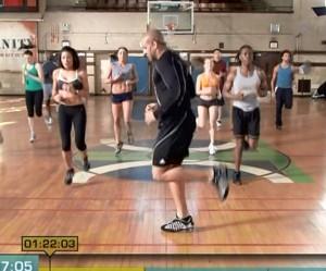 Insanity Cardio Power & Resistance-butt kicks