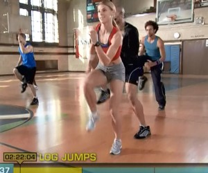 Insanity Cardio Power & Resistance-log jumps