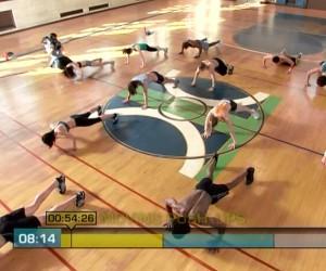 Insanity Cardio Power & Resistance-moving pushups