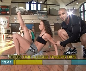 nsanity Cardio Power & Resistance-one legged triceps dip