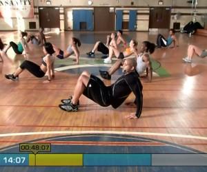 Insanity Cardio Power & Resistance-triceps dip
