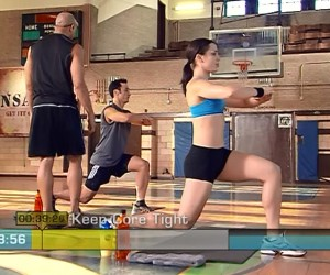 Insanity Cardio Recovery-lunge pulses
