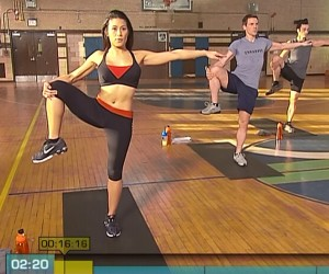 Insanity Cardio Recovery-side knee stretches