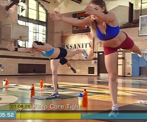 Insanity Cardio Recovery-table top balance