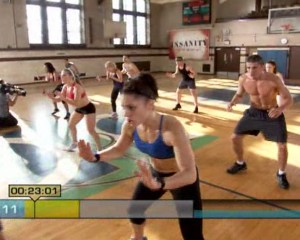 Insanity Plyometric Cardio Circuit-Wide Feet Football sprints