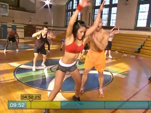 Insanity Max Cardio Conditioning-forward and backward suicide hops