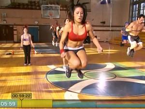 Insanity Max Cardio Conditioning-jump ropes hop squats