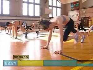 Insanity Max Cardio Conditioning-plank runs
