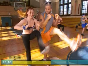 Insanity Max Cardio Conditioning-right and left kicks