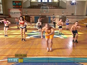Insanity Max Cardio Conditioning-ski down hooks