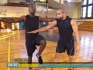 Insanity Max Interval Plyo-high knees with arms extended