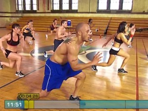 Insanity Max Interval Plyo-lunges with hops