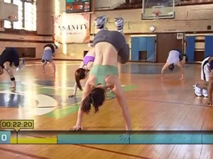 Insanity Max Interval Plyo-side to side floor hops
