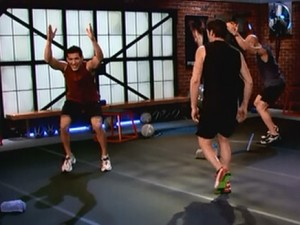 P90X2 Plyocide-fast feet chair jump