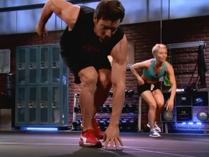 P90X2 Plyocide-one leg squats