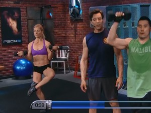P90X2 Total Body-curls and swimmers press