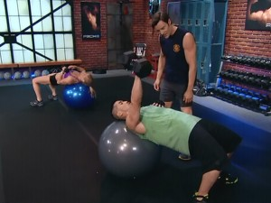 P90X2 Total Body-one arm chest press