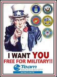 Team Beachbody Military Coaching Opportunity