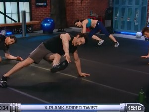 P90X2 Balance and Power-X-plank spider twist