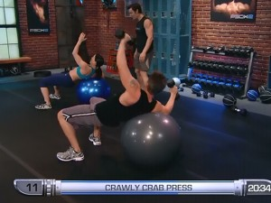 P90X2 Balance and Power-crawly crab press