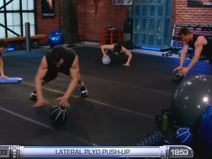 P90X2 Balance and Power-lateral plyo pushup