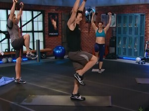 P90X2 Balance and Power-lunge kneel knee raise