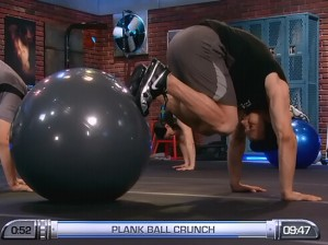 P90X2 Balance and Power-plank ball crunch
