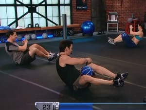 P90X2 Balance and Power-russian twist