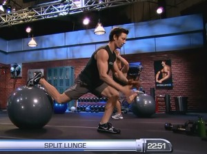 P90X2 Balance and Power-split lunge