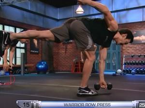 P90X2 Balance and Power-warrior row press
