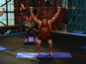 P90X2_Recovery_Mobility-squat with weighted bar