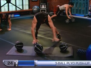 P90X2 Chest Back and Balance-3 ball plyo pushup