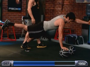 P90X2 Chest Back and Balance-swimmer's pushup