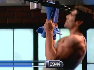 P90X2 Chest Back and Balance-towel pullup