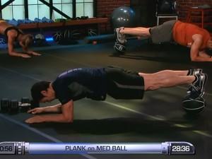 P90X2 PAP Upper-plank on medicine ball