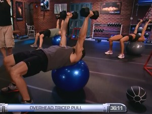 P90X2 Shoulders and Arms-overhead triceps pull