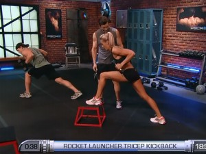 P90X2 Shoulders and Arms-rocket launcher triceps kickback