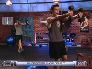 P90X2 Shoulders and Arms-six direction shoulder fly