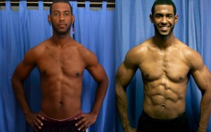 p90x2 before and after women  Lenny's P90X2 results