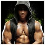 Sagi Kalev in Body Beast hoodie