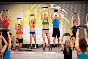 Les Mills Pump men & women training together